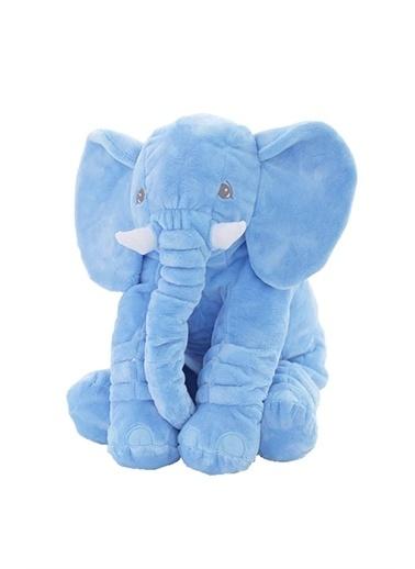 Babycim Babycim Oyuncak Uyku Arkadaşım Jumbo Fil 60 Cm Mavi